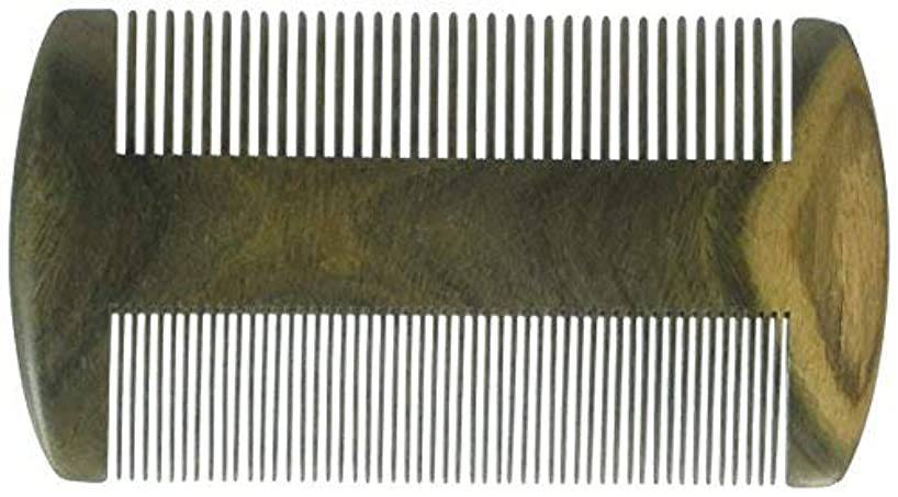 EQLEF? Green sandalwood no static handmade comb, Pocket comb (beard) [並行輸入品]