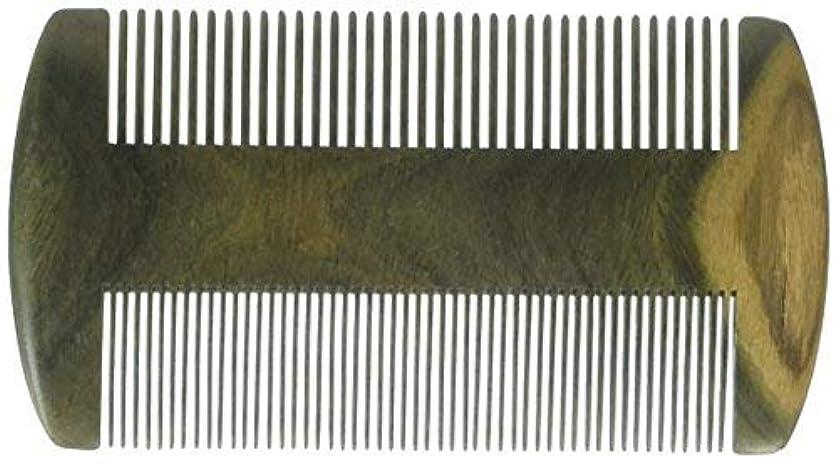 ネーピア象子豚EQLEF? Green sandalwood no static handmade comb, Pocket comb (beard) [並行輸入品]