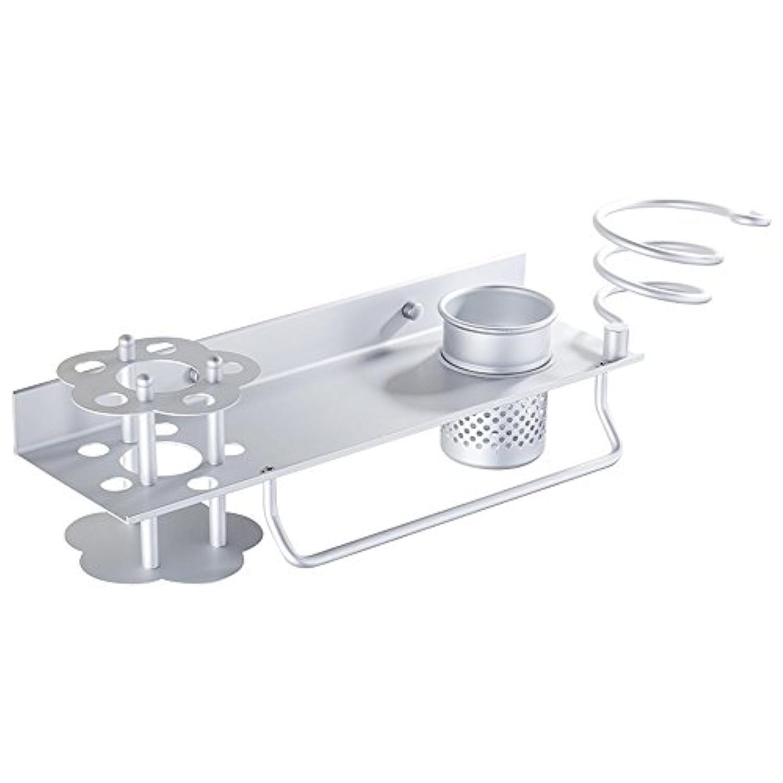 HAIZHEN 浴室用ラック ヘアドライヤーラックウォールマウントスペースアルミニウム素材便利で実用的な多機能(35 * 12CM) インストールが簡単