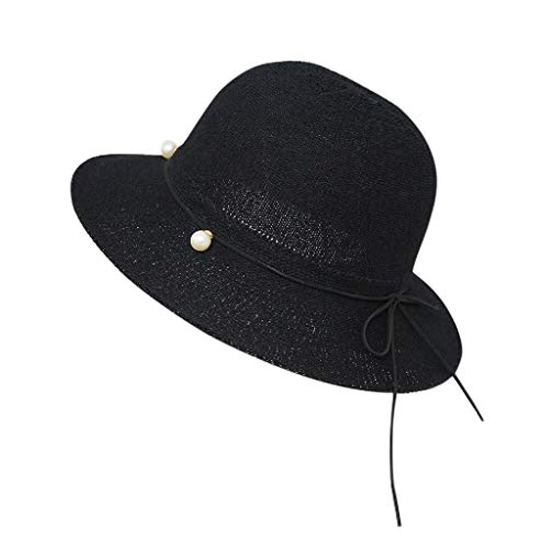 徹底的に暴露アラブサラボ帽子 ハット 夏フロッピー折り畳み式女性弓固体ビーチ日曜日帽子広いつば