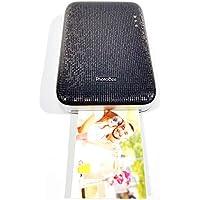 PHOTOBEE ポータブルフォトプリンタ - 黒(粘着性のあるフォト用紙12枚が含まれています)