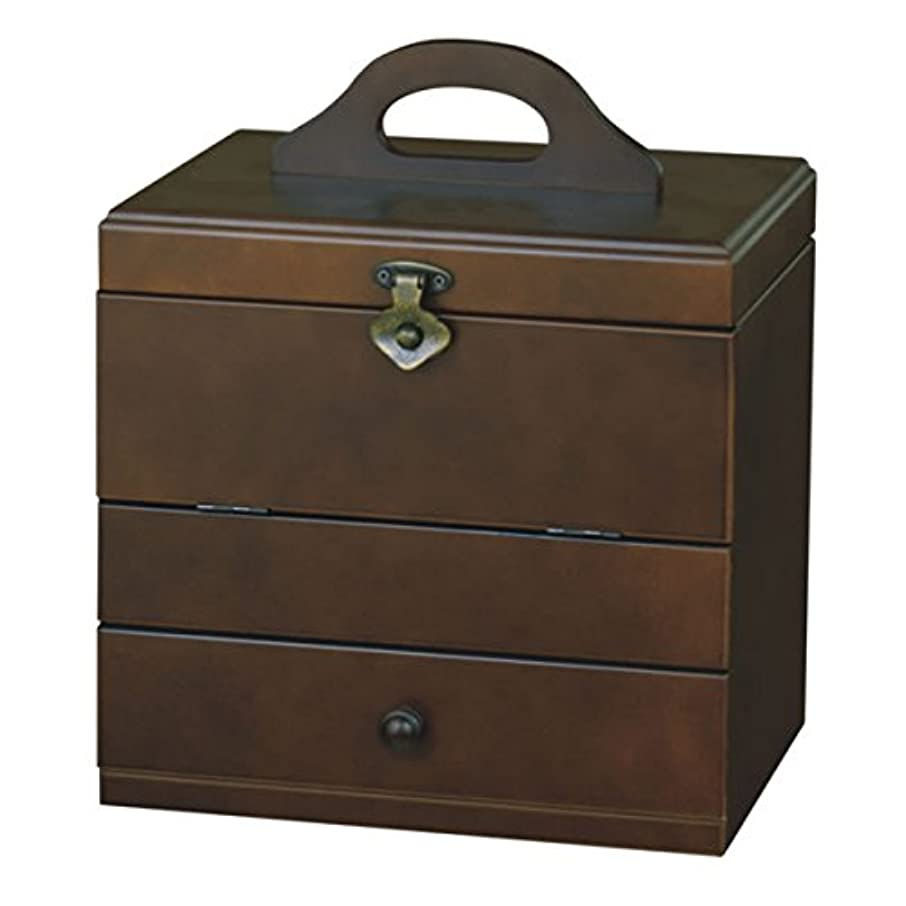 カエル数ベルトコスメティックBOX G-575 B(ブラウン)