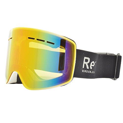 REVERSE EDGE(リバースエッジ) スノーボード ゴーグル ケース付き 平面レンズ ta-goggle-ESG1754-WH-LB