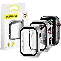 【2020改良モデル】YOFITAR Apple Watch 用ケース 38mm アップルウォッチ保護ケース ガラスフィルム 一体型 series3 series2 series1全面保護 超薄型 装着簡単 耐衝撃 高透過率 指紋防止 (Series1/2/3 38mm,シルバー2枚セット)