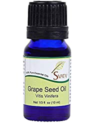 SVATV Grape Seed (Vitis Vinifera) Essential Oil 10 mL (1/3 oz) Therapeutic Grade, Aromatherapy Essential Oil
