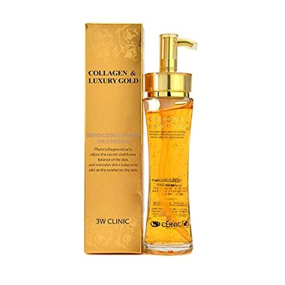 死めったに創傷3Wクリニック Collagen & Luxury Gold Revitalizing Comfort Gold Essence 150ml/5.07oz並行輸入品
