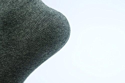 無地スクールソックス ハイソックス 3足セット 20-22cm, グレー