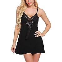Mathea Women's Lingerie Sleepwear Dress Chemises Sexy Slip Babydoll Model Nightie Robes