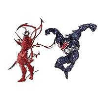 CONCEN レッド、ブラックベノムコンビネーション玩具モデル、ミラクルスパイダーマン:水族館山口毒ホロコーストアクションフィギュアデッドリーガーディアン玩具モデルグループ7インチの高さ約18のCm (Color : 2)