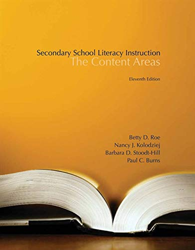 Download Secondary School Literacy Instruction: The Content Areas 1133938965