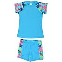 DAYU Unisex Kids Rashguard Set Two Piece Swimsuit UPF 50+ UV 4-14 Years