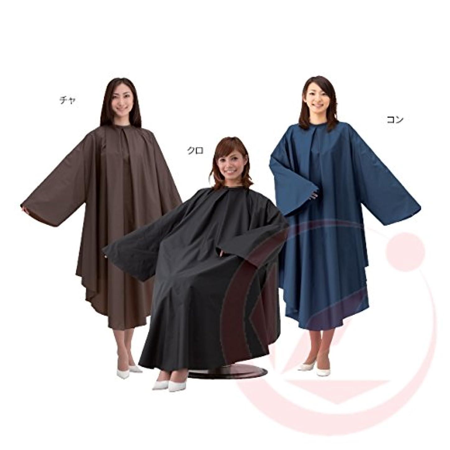 ピケ簡単にマングルカトレア袖付高密度ナイロンヘアダイクロス1080(ヘアダイ?パーマ用) 黒色