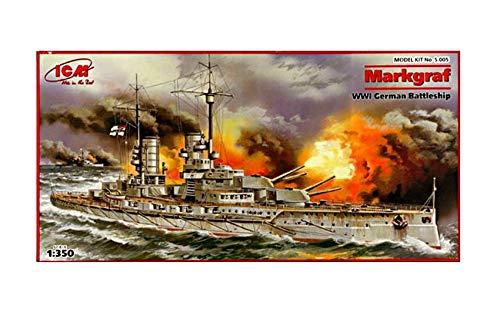 ICM 1/350 ドイツ軍 弩級戦艦 マルクグラーフ プラモデル S005
