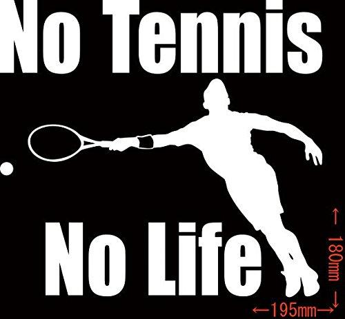 ノーブランド品 No Tennis No Life (テニス)ステッカー・ 8 約180mm×約19...