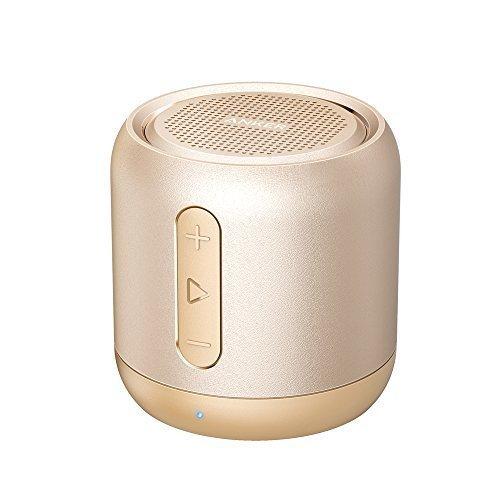 Anker SoundCore mini コンパクト Bluetoothスピーカー 【15時間連続再生 / 内蔵マイク搭載 / micro SDカード & FMラジオ対応】 (ゴールド)