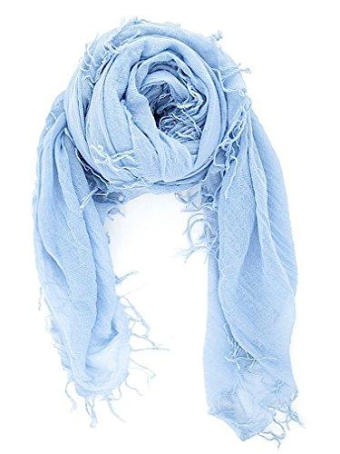 国内正規品チャンルー CHAN LUU カシミヤシルク 大判ストール/スカーフ BRH-SC-140 CASHMERE BLUE