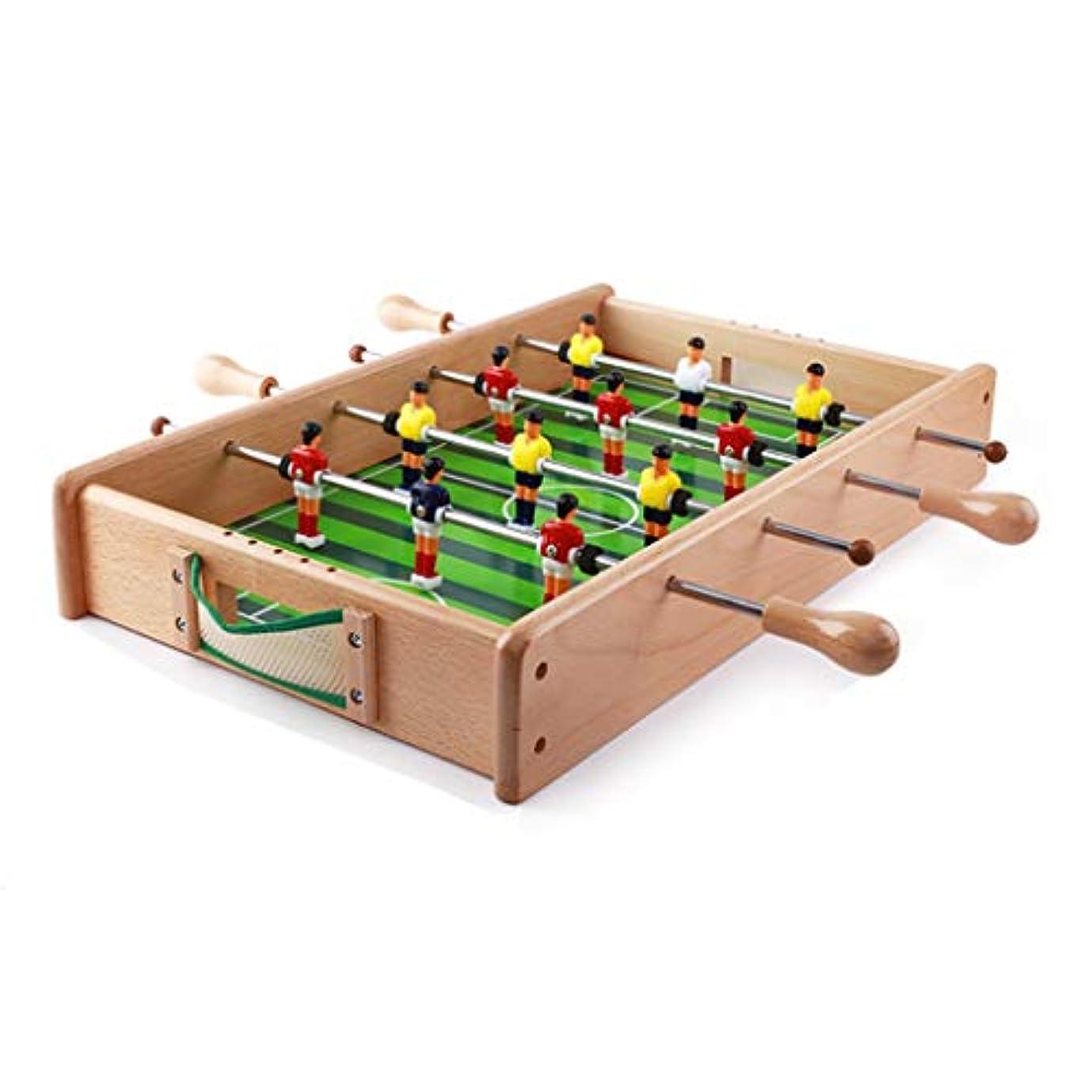 秋ロバ致命的サッカーゲーム小さなテーブルサッカー機ホームデスクトップ6人乗りサッカーテーブルゲームテーブル子供のおもちゃ誕生日プレゼント3-10歳の教育玩具男の子の女の子のおもちゃ (Color : WOOD, Size : 54*33*8.5CM)