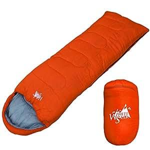 丸洗いOK White Seek 寝袋 シュラフ 封筒型【最低使用温度7℃ 1000】コンパクト収納 (オレンジ)