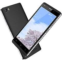 スマートフォン本体 SIMフリー本体 5 インチ 16GB 端末本体 Android 7.0 2800mAh 5MPカメラ デュアル SIM 3G クアッドコア 携帯 本体 Bluetooth GPS WIFI spiphone A10Pro (ブラック、ゴールド オプション) (ブラック)