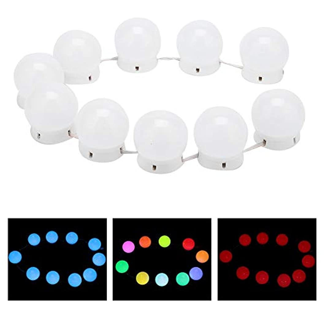 屋内で手配する包囲化粧鏡ラ??イトキット 10 LED付き調 光ライトストリング電球バニティライト化粧鏡に最適 バスルームの照明