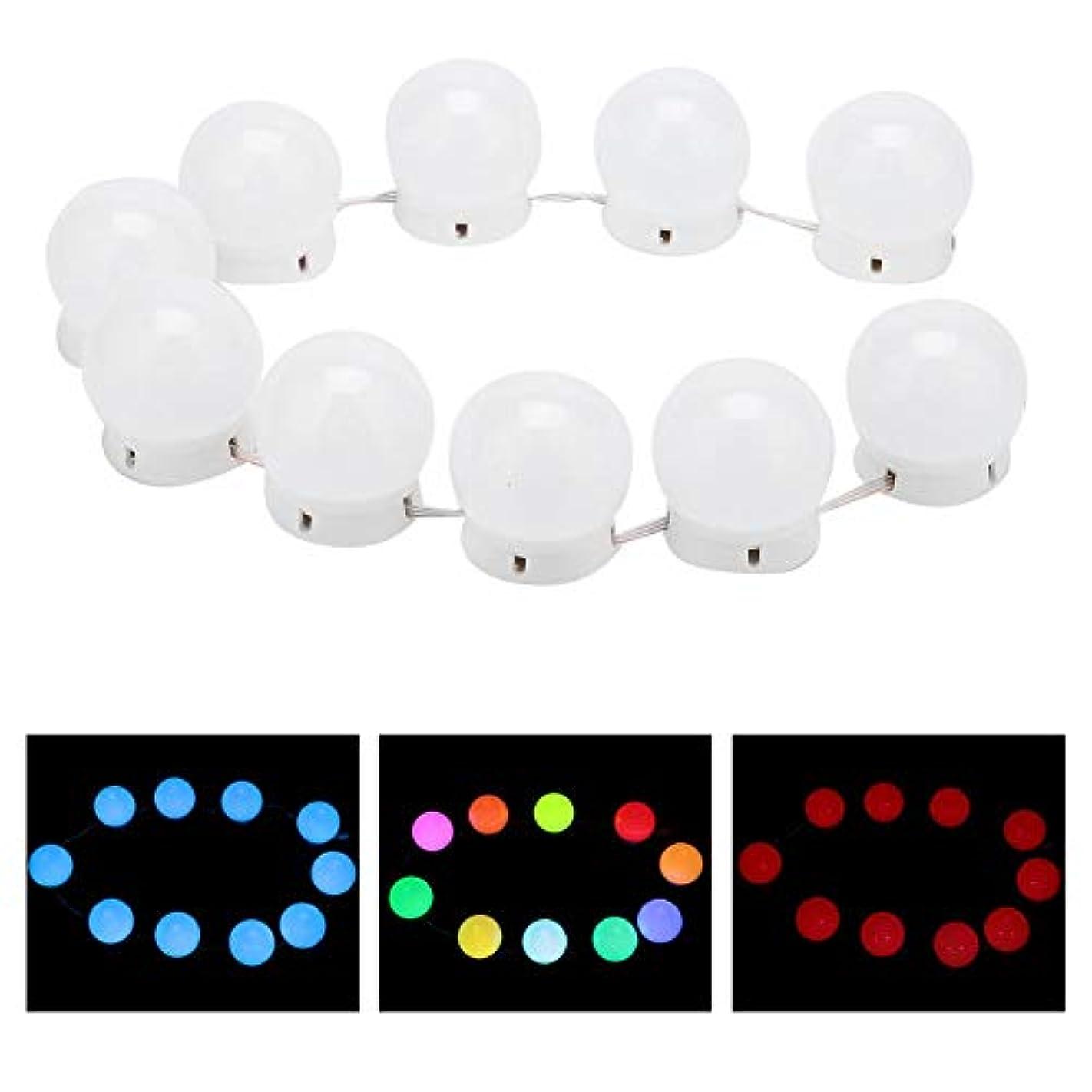 アグネスグレイ試す助言する化粧鏡ラ??イトキット 10 LED付き調 光ライトストリング電球バニティライト化粧鏡に最適 バスルームの照明