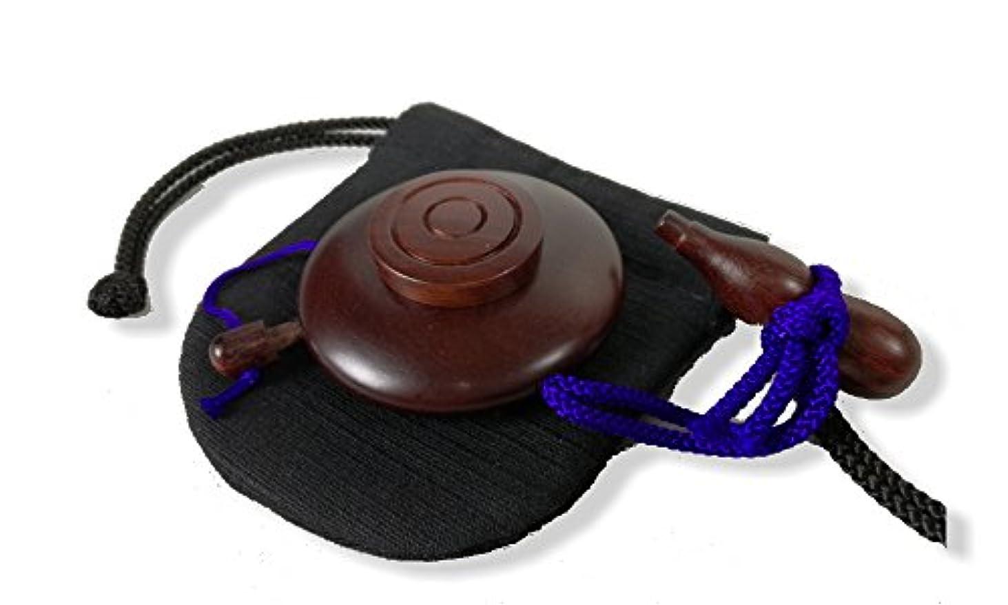 不名誉音声キャプチャー塗香入れ 紫檀 大(直径約 5cm) 塗香入れ袋(巾7cm×高さ8cm紬) 携帯用