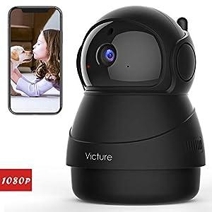 Victure 1080P ネットワークカメラ FHD WiFi 屋内ワイヤレス防犯カメラ 動体検知 暗視撮影 家庭監視ディスプレイ 双方向音声 ベビー/ペット/老人見守り