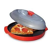 ZISHINE焙煎鍋電子レンジグリル鍋電子レンジクリスパープレートフタ付電子レンジ調理焼きオーブン用クリスパーフードリヒーターパン
