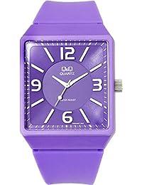 [シチズン Q&Q]腕時計 ビッグケース ウレタンバンド カジュアル ポップ スクエア 立体インデックス レディース メンズ ボーイズ VR30J001 パープル