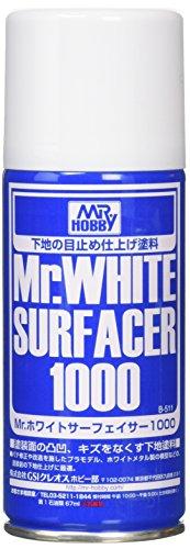 Mr.ホワイトサーフェイサー1000スプレー 170ml B511