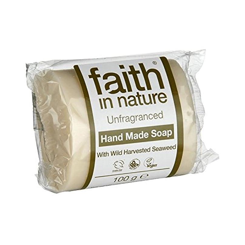 メンバー挨拶解凍する、雪解け、霜解け自然無香料海藻石鹸100グラムの信仰 - Faith in Nature Unfragranced Seaweed Soap 100g (Faith in Nature) [並行輸入品]