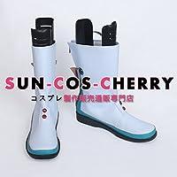 【サイズ選択可】コスプレ靴 ブーツ Z4-0148 VOCALOID マジカルミライ 2017 初音ミク MIKU 女性23.5CM