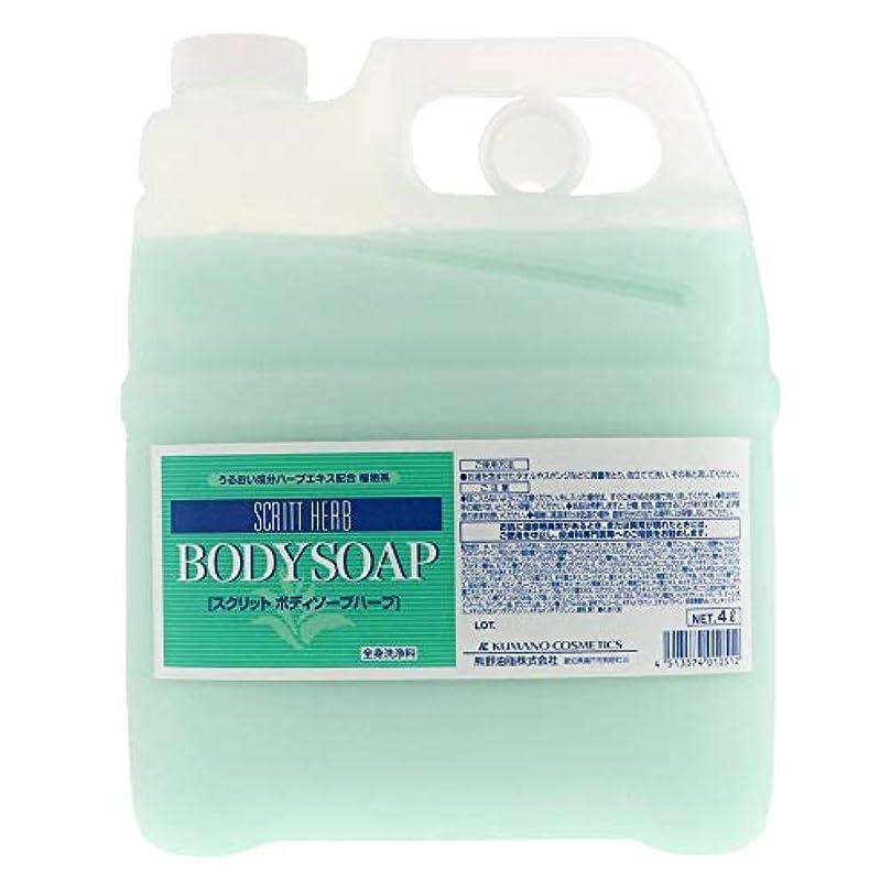 難民ニュージーランド主要な熊野油脂 業務用 SCRITT(スクリット) ボディソープ 4L