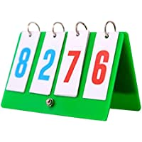 4-digitalポータブルテーブルトップスコアボードスポーツスコアフリッパー - スコア0-99、C