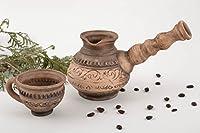 ハンドメイドセラミックセットfor料理コーヒーカップとIbrik 150and 500mlキッチンツールと機器
