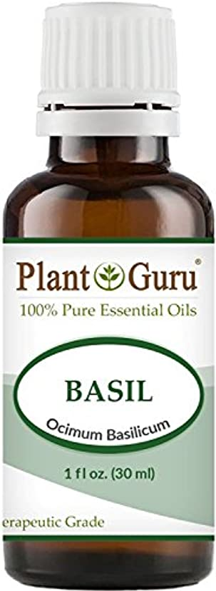 敷居急降下スチュワードBasil Essential Oil. 30 ml (1 oz) 100% Pure, Undiluted, Therapeutic Grade. by Plant Guru