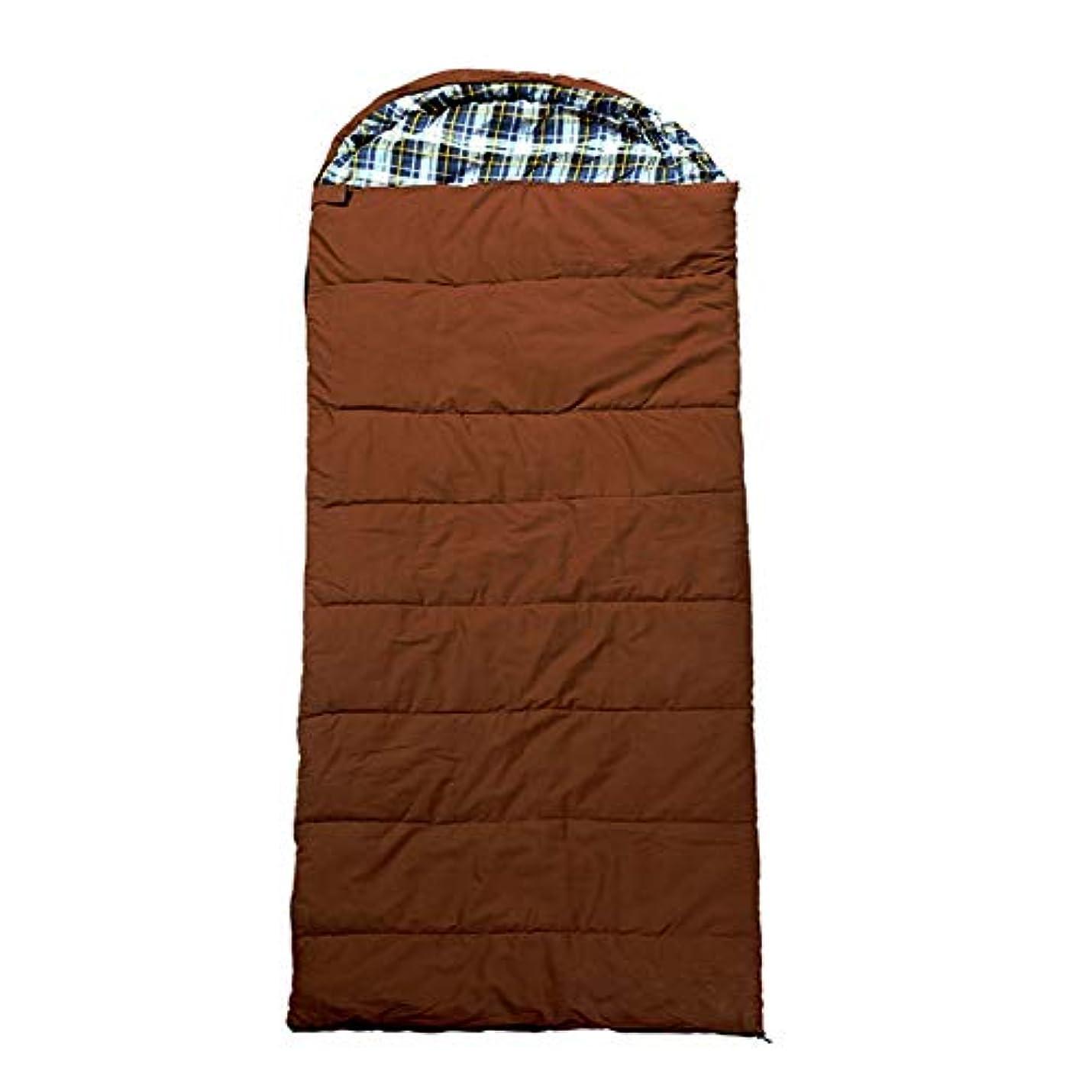 鋼亡命子音Durable,breathable,comfortableキャンプスリーピングバッグ、ポータブル軽量封筒睡眠袋大人屋外暖かい睡眠サックキャンバス中空綿通気性スリーピングパッド,brown,235*80cm