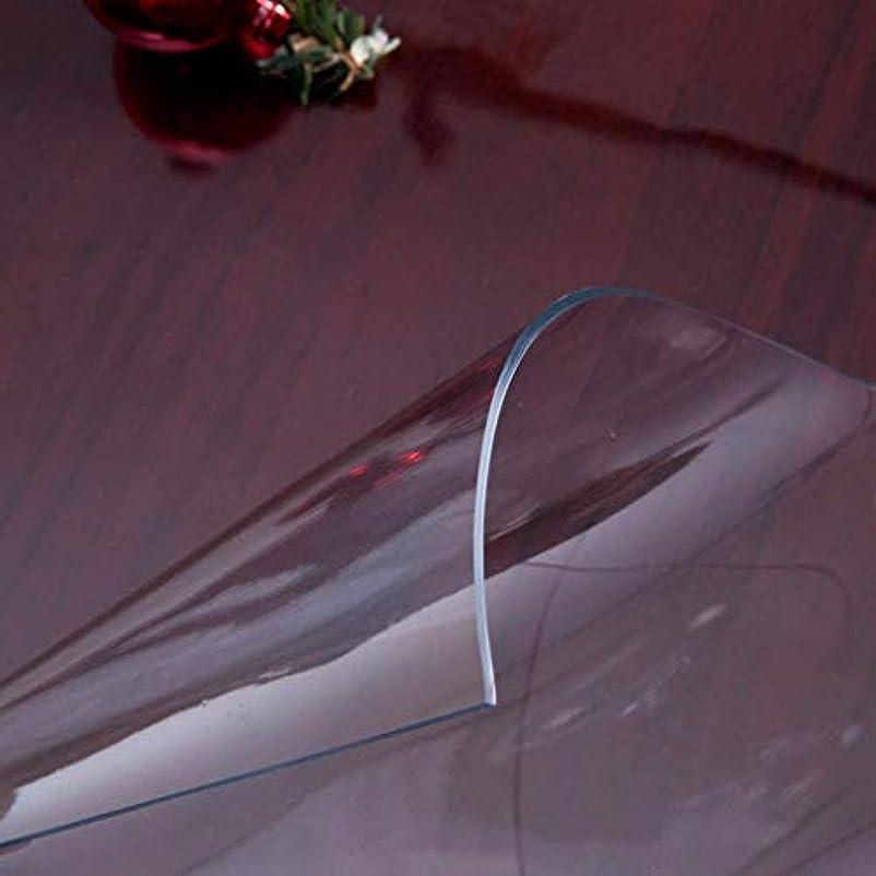 金貸しコカイン所有権Hanpiaotech テーブルクロス防水、アンチケルディング、オイルルーフ、お手入れが簡単な長方形ポリ塩化ビニール、透明でソフトな防水ダイニングテーブルプラスチックテーブルマットクリスタルプレートオイルルーフコーヒーマット (Color : 80*140cm, サイズ : Transparent 2.0mm)