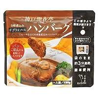 レトルト 惣菜 芳醇煮込み ハンバーグ デミグラスソース 190g ×10袋 セット (神戸開花亭) (レンジ 簡単調理 惣菜)