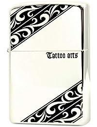 [ジッポー] ZIPPO TATOOシリーズ 両面エッチング シルバーミラー仕上げ シルバー ZIPPO社オリジナルギフトセット gift-tatoo-spbk1