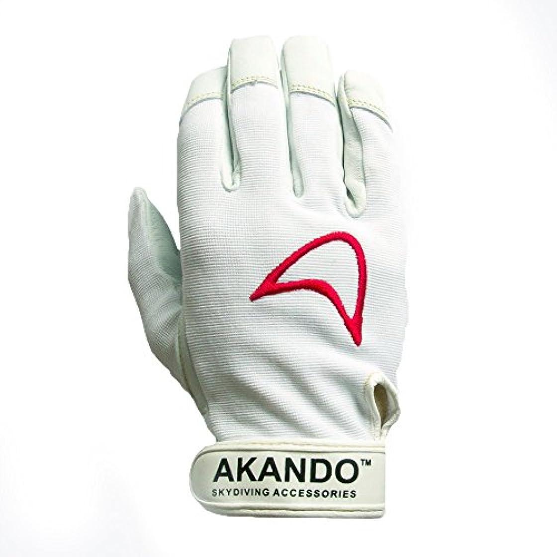 旅行びんレーザAkando Skydiving手袋(ホワイト)