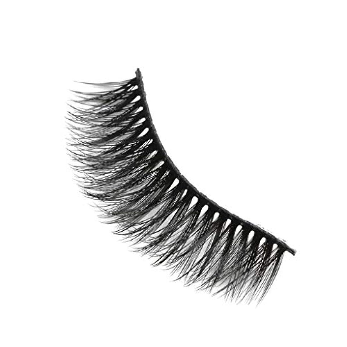 困惑する浸す苦悩柔らかい長い巻き毛と歪んだ多くの層まつげと3Dミンクの毛皮の10ペア