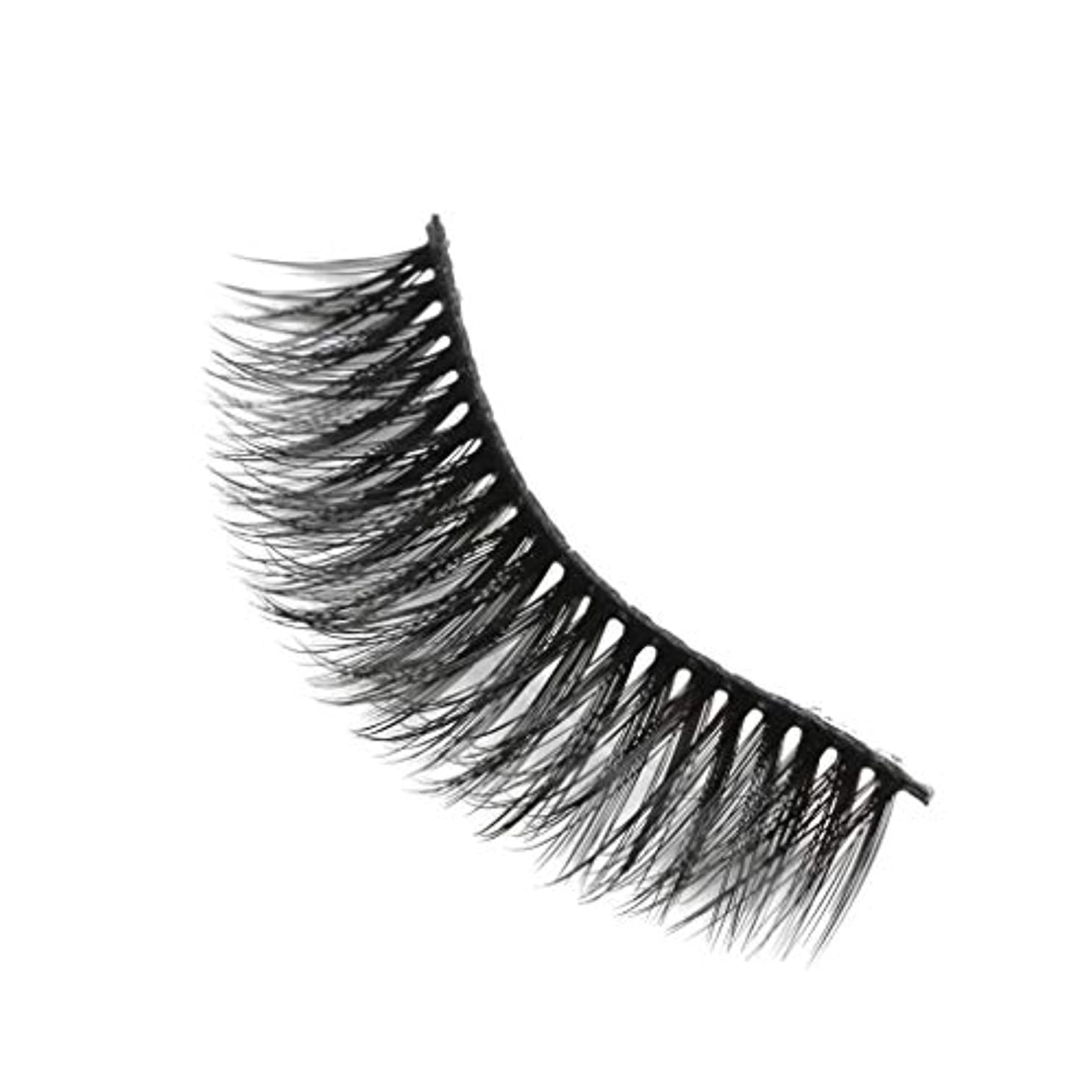 影スロー貫入柔らかい長い巻き毛と歪んだ多くの層まつげと3Dミンクの毛皮の10ペア