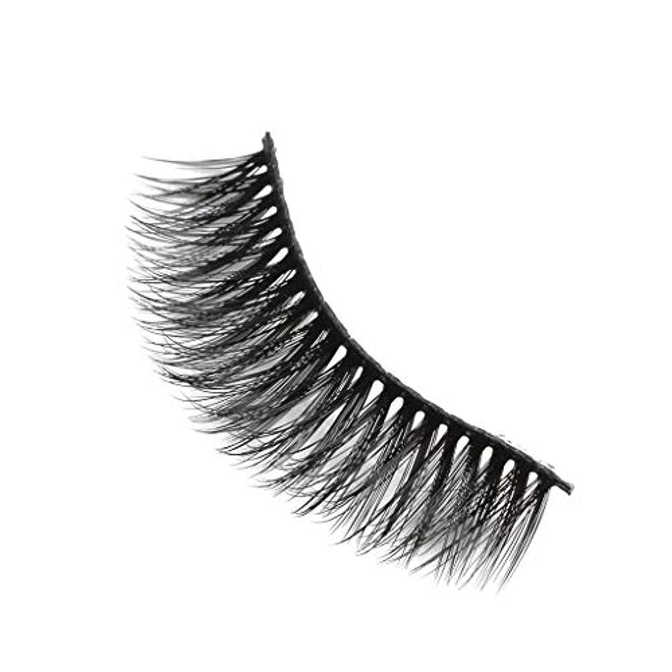 免疫強制落ちた柔らかい長い巻き毛と歪んだ多くの層まつげと3Dミンクの毛皮の10ペア