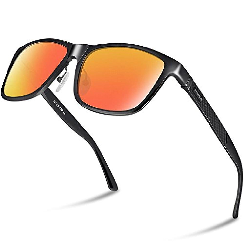 PAERDE 偏光 サングラス メンズ 運転 軽量 アルミニウム?マグネシウム合金 UV400 紫外線カット スポーツサングラス/自転車/釣り/テニス/スキー/ランニング/ゴルフ/ドライブ PA05