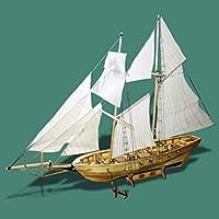 KISENG 1:130スケール 帆船モデル 組み立て 木製帆船 ホームデコレーション