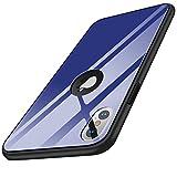 Humixx iPhone Xケース 強化ガラスケース 全面保護カバー ストラップホール付き レンズ保護  薄型 傷防止