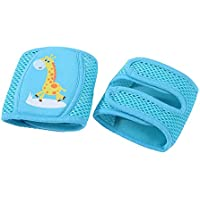 Domybest 子供 通気性 メッシュ スポンジ 赤ちゃん クロール 幼児 膝当て 二ーパッド 擦りむき防止 歩行勉強 コーマ綿 滑べり止め 通気性に優れ (青)