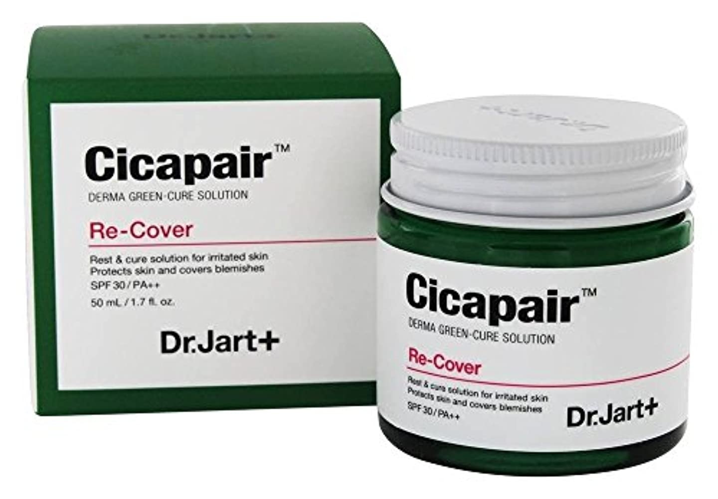 フェンス微弱レベルDr. Jart+ Cicapair Derma Green-Cure Solution Recover Cream 50ml [並行輸入品]