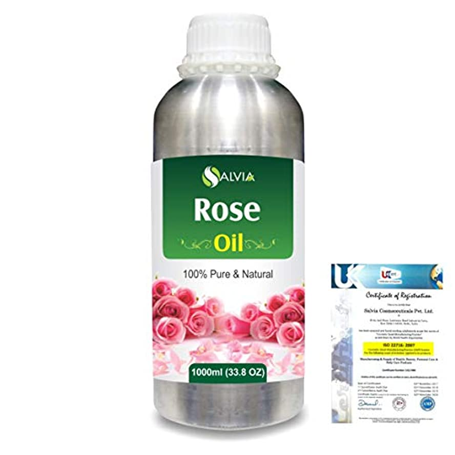 警告するスナップ学部長Rose (Rosa Damacenia) 100% Natural Pure Essential Oil 1000ml/33.8fl.oz.